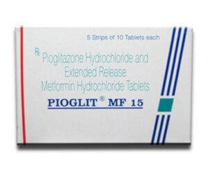Pioglit mf 15 mgor500 mg equals